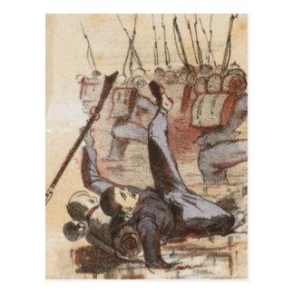 泥の内戦の生命に付けられる ポストカード