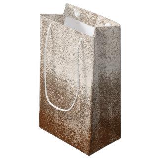 泥の恋人ブラウンおよびアイボリーのしぶきのスタイル スモールペーパーバッグ