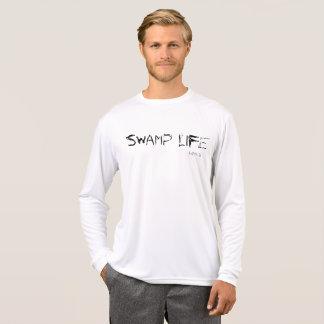 泥地の生命長袖のワイシャツ Tシャツ