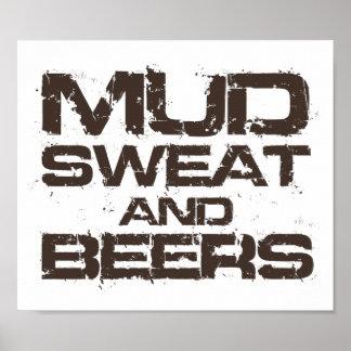 泥汗およびビール ポスター
