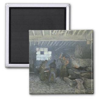 泥灰質le Roiの炉、イヴリーヌ県1875年 マグネット