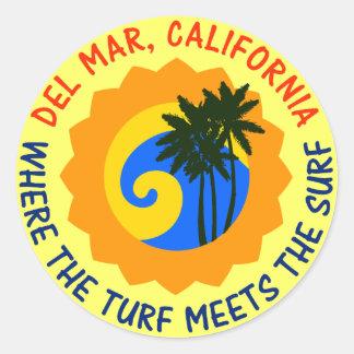 泥炭が波に会うDel Mar、カリフォルニア ラウンドシール