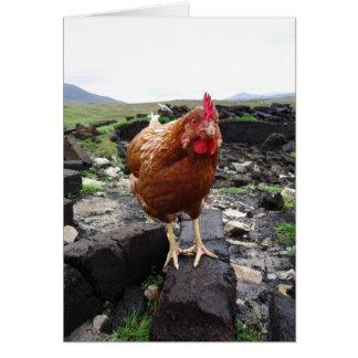 泥炭の鶏、アイルランド カード