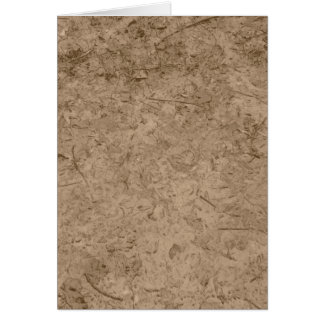 泥。 ブラウンの泥の地面 カード