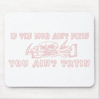 泥Aint Flyin Aint Tryinのピンクのスカル マウスパッド