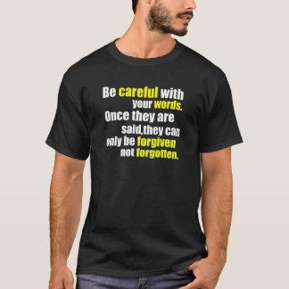 注意して下さい Tシャツ