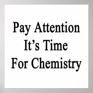 注意それは化学の時間です ポスター