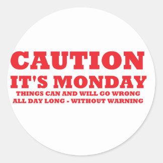 注意それは月曜日です ラウンドシール