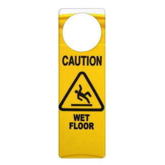 注意のぬれた床 ドアノブプレート