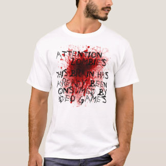 注意のゾンビ Tシャツ