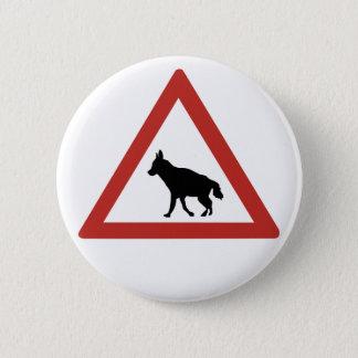 注意のハイエナ1の交通警告標識、ナミビア 5.7CM 丸型バッジ