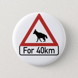 注意のハイエナ2の交通警告標識、ナミビア 5.7CM 丸型バッジ