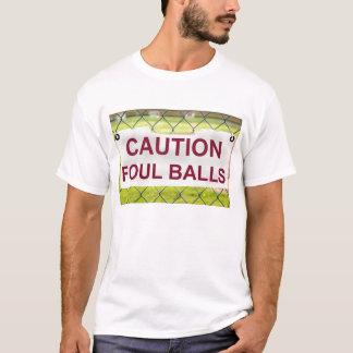 注意のファウルの印の人のTシャツ Tシャツ