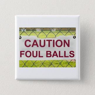 注意のファウルの印ボタンのバッジ 缶バッジ
