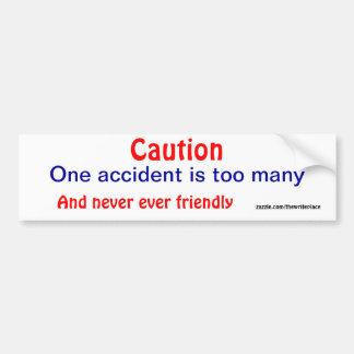 注意の事故のバンパーステッカー バンパーステッカー