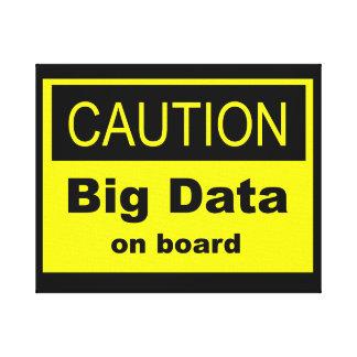 注意の大きいデータ船上に キャンバスプリント