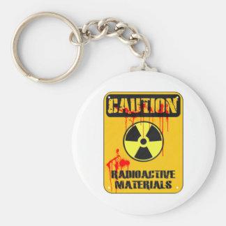 注意の放射性物質 キーホルダー