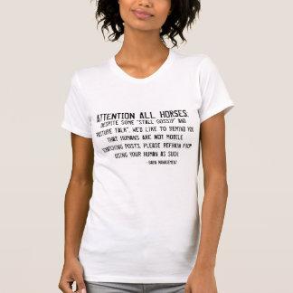注意の馬 Tシャツ
