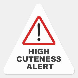 注意の高いcuteness警報 三角形シール