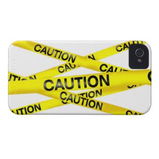 注意テープブラックベリーのはっきりしたな箱 Case-Mate iPhone 4 ケース