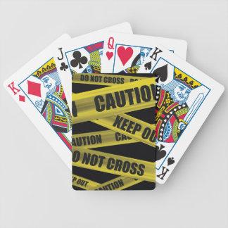 注意テープ-カード バイスクルトランプ