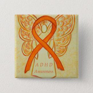 注意欠陥の活発性過度の無秩序 (ADHD)Pin 5.1cm 正方形バッジ
