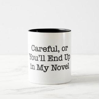 注意深いまたはあなた私の小説に行きつきます ツートーンマグカップ