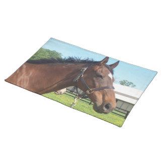 注意深いアラビアの馬のランチョンマット ランチョンマット