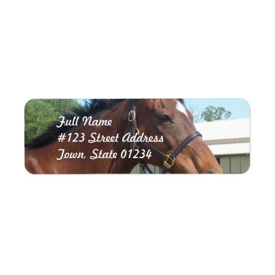 注意深いアラビアの馬の差出人住所の郵送物のラベル ラベル