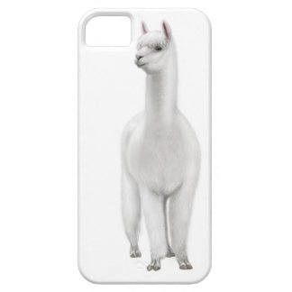 注意深く白いアルパカのiPhoneの箱 iPhone SE/5/5s ケース