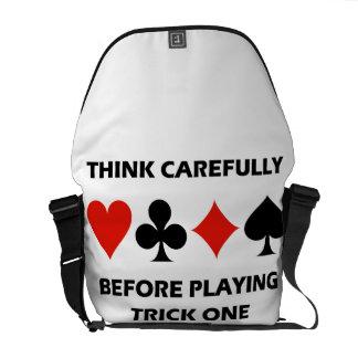 注意深く考えて下さい遊ぶ前にトリック1 (橋)を メッセンジャーバッグ