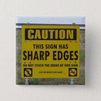 注意: この印に鋭角があります 5.1CM 正方形バッジ