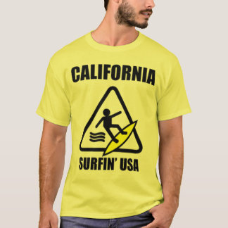 注意: ぬれた床 Tシャツ