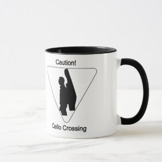 注意! チェロの交差 マグカップ