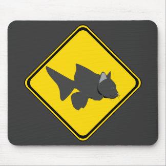 注意: ナマズの交差! マウスパッド