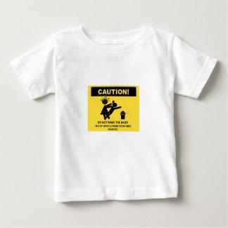 注意! ベビーの乳児のTシャツを目覚めさせないで下さい ベビーTシャツ