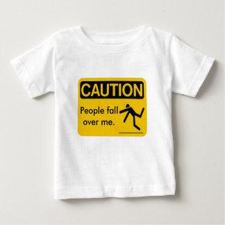 注意、人々のfallover私 ベビーTシャツ