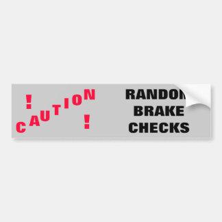 注意! 任意ブレーキ点検 バンパーステッカー