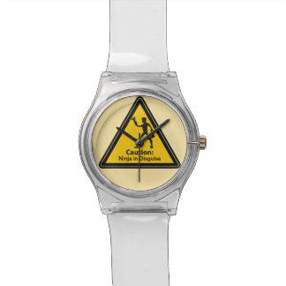 注意: 変装(シルエット)の忍者 腕時計
