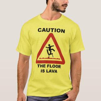 注意-床は溶岩です Tシャツ