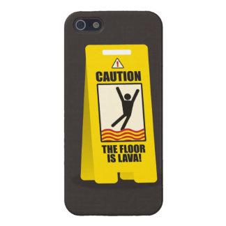 注意。 床は溶岩の印です。 場合 iPhone SE/5/5sケース