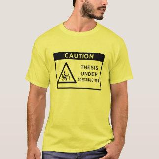 注意: 建設中の説(黒い文字) Tシャツ