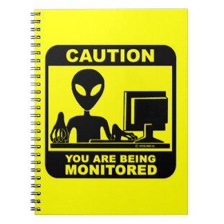 注意! 監視されています ノートブック