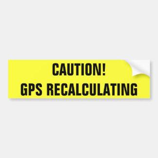 注意! GPSの検算 バンパーステッカー