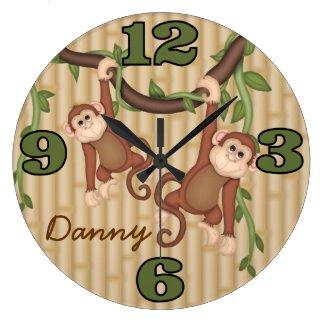 注文のジャングル猿の装飾的な柱時計