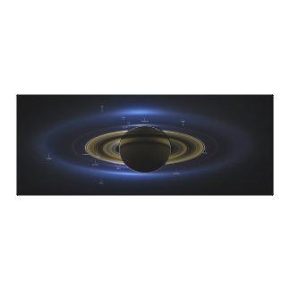 注釈される日曜日の前の惑星土星 キャンバスプリント