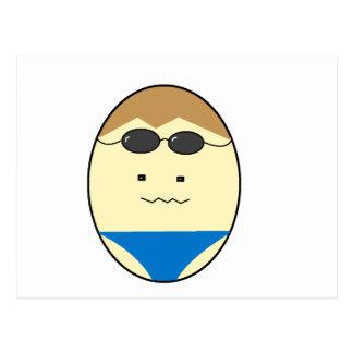泳ぐ人の人の卵の男 ポストカード