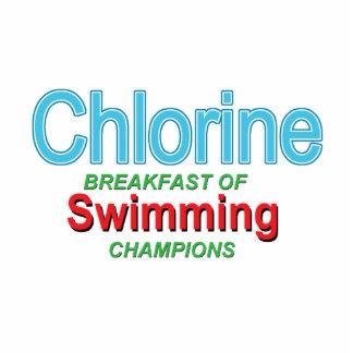 泳ぐ人の塩素の朝食 写真彫刻オーナメント
