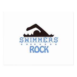 泳ぐ人の石 ポストカード