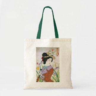 洋装の女、西部の衣類、Yoshitoshiの芳年の女性 トートバッグ